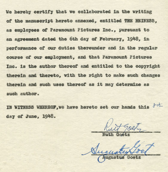 Copyright and contract negotiations between authors and Paramount.