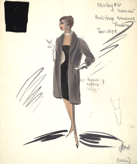 A sketch for MacLaine in the film Career.