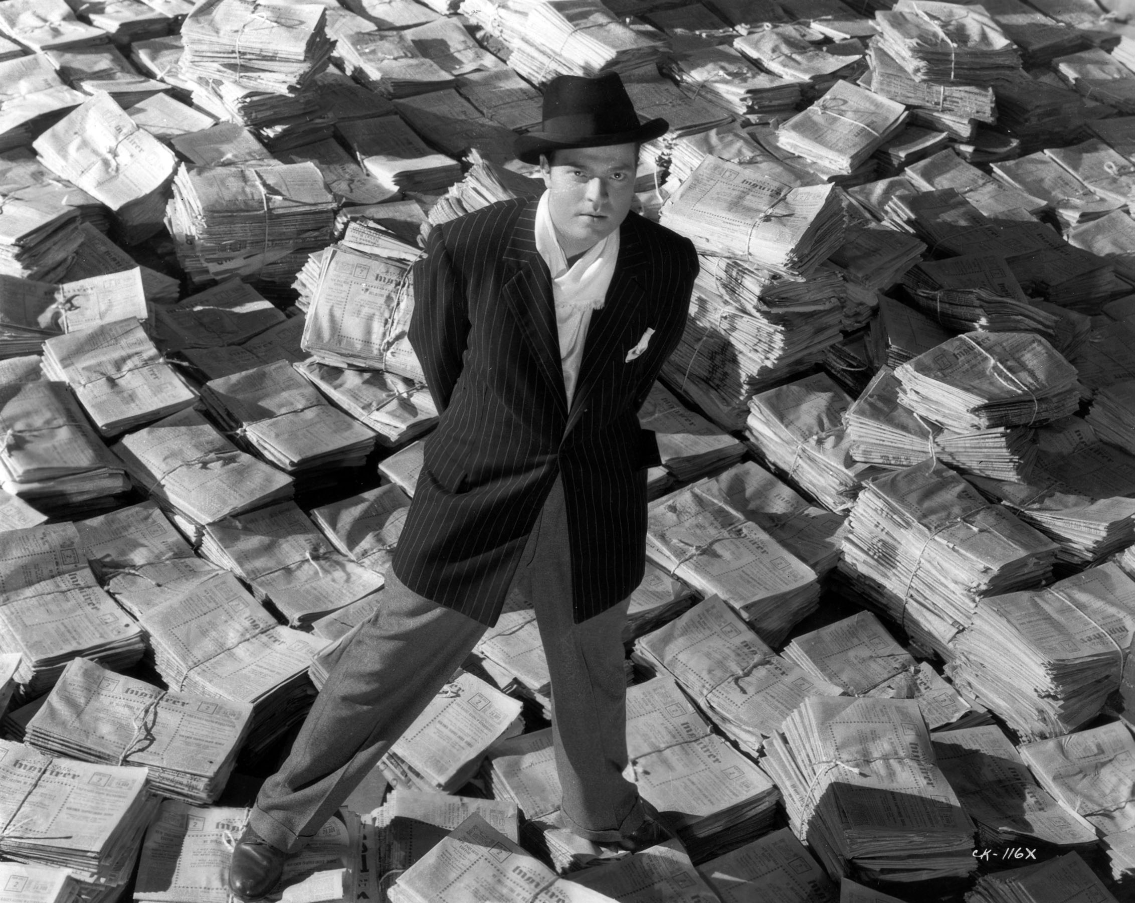Orson Welles in a publicity still for Citizen Kane.