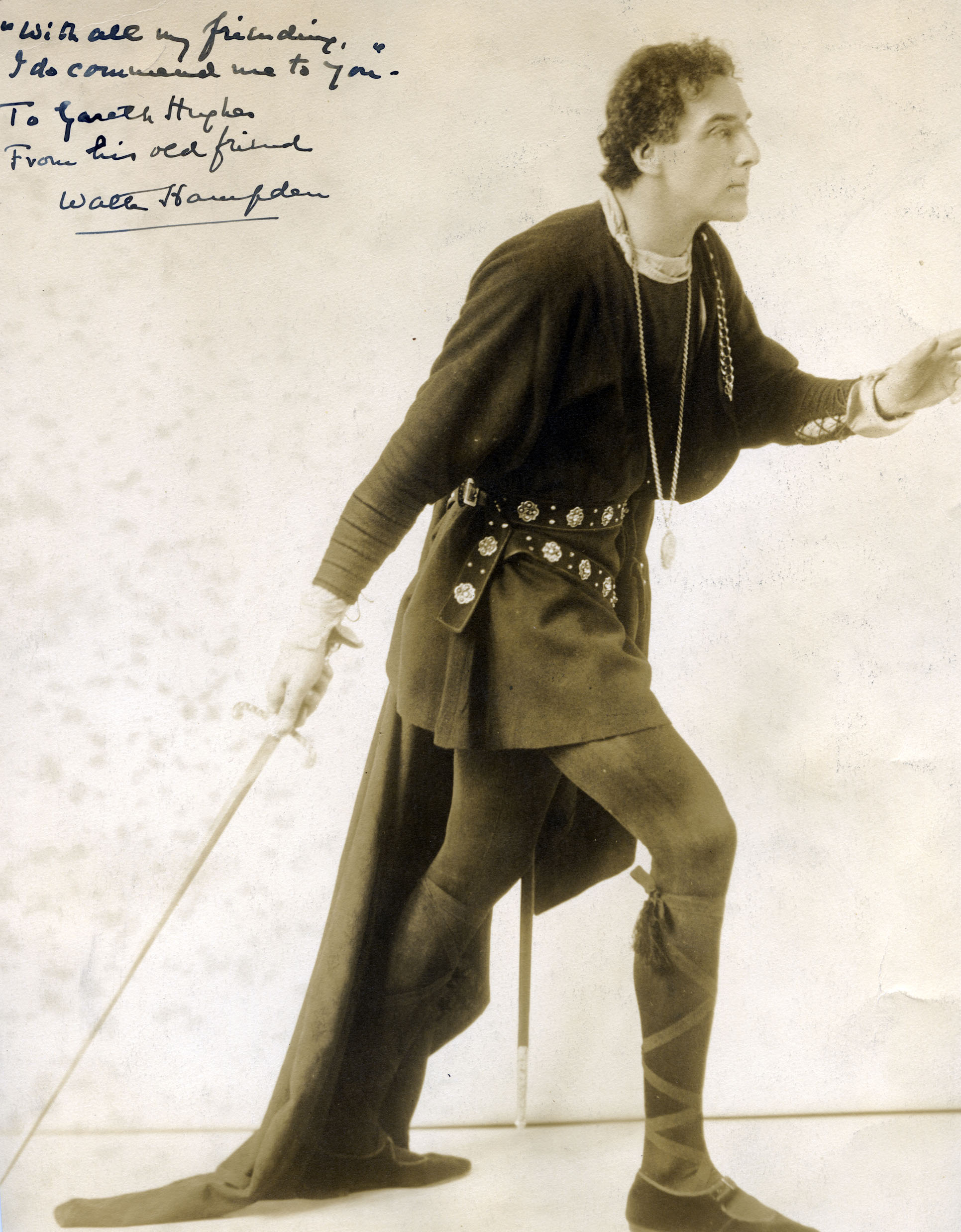 Walter Hampden as Hamlet, circa late 1910-1920s.
