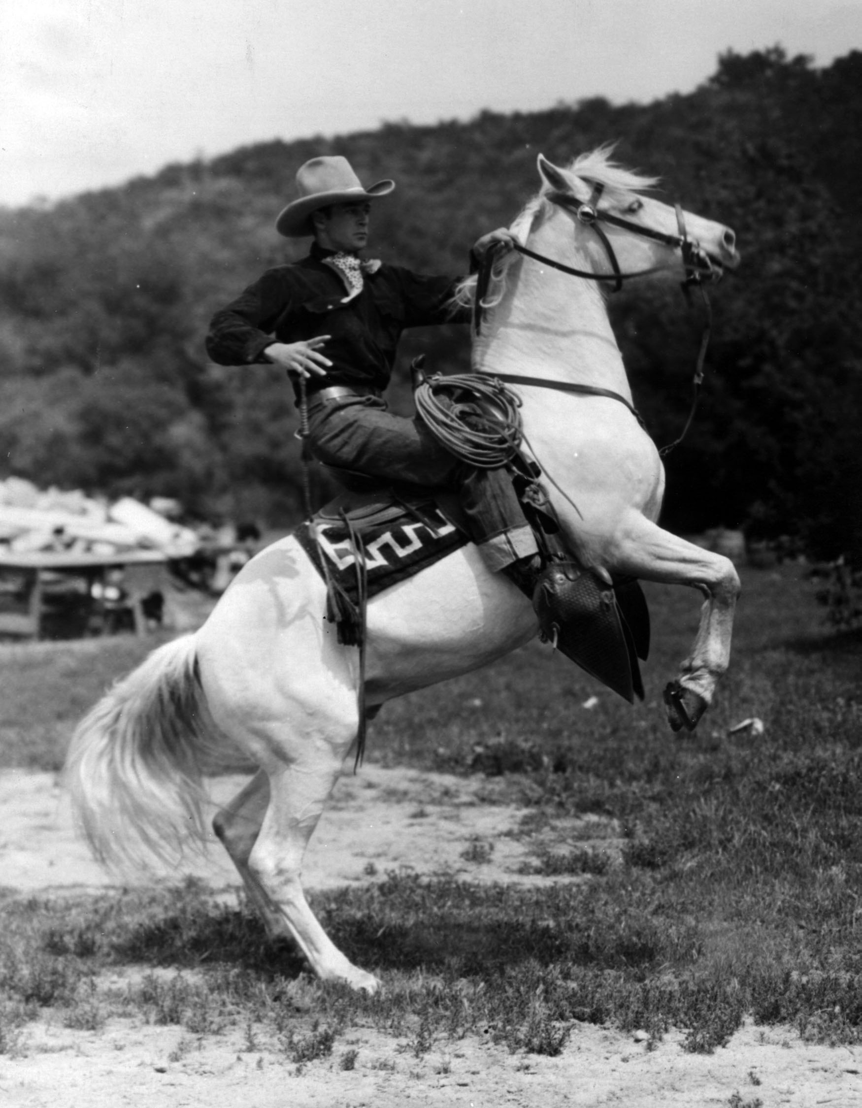 Gary Cooper atop Flash the Wonder-Horse, circa mid-1920s.