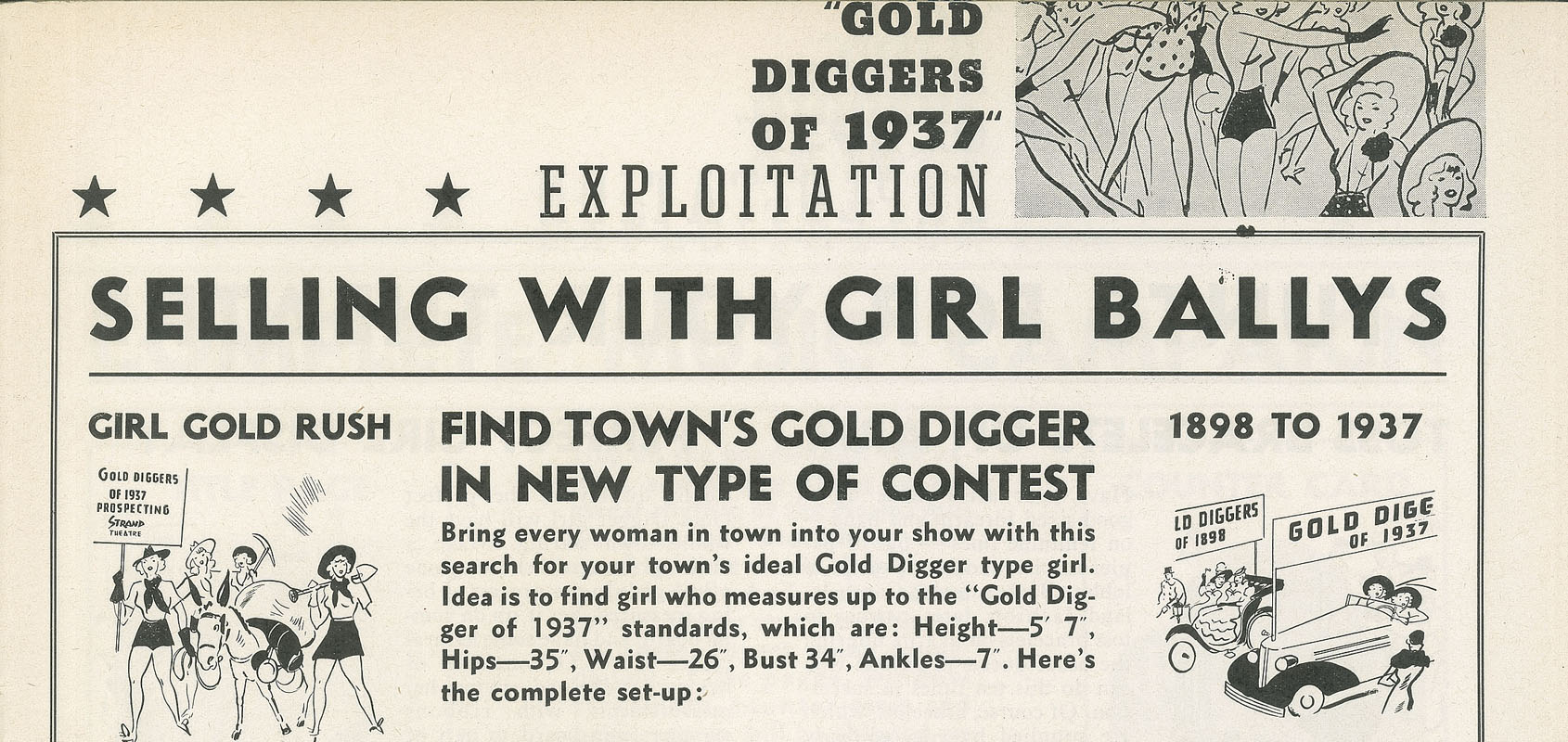 Excerpt from Page 6 of Gold Diggers of 1937 press book.