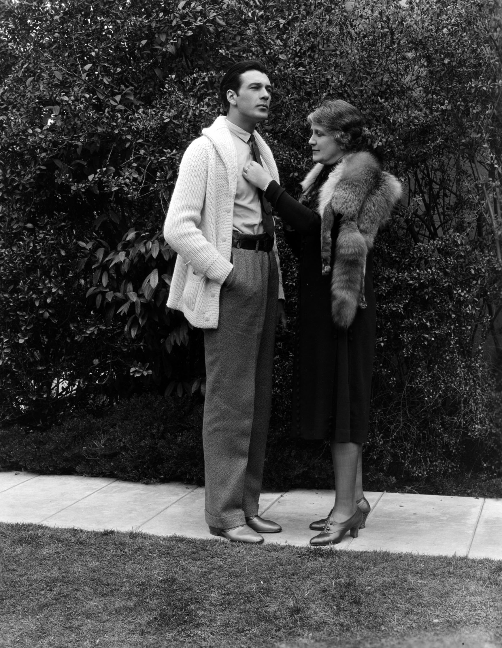 Cooper and his mother, circa 1929.