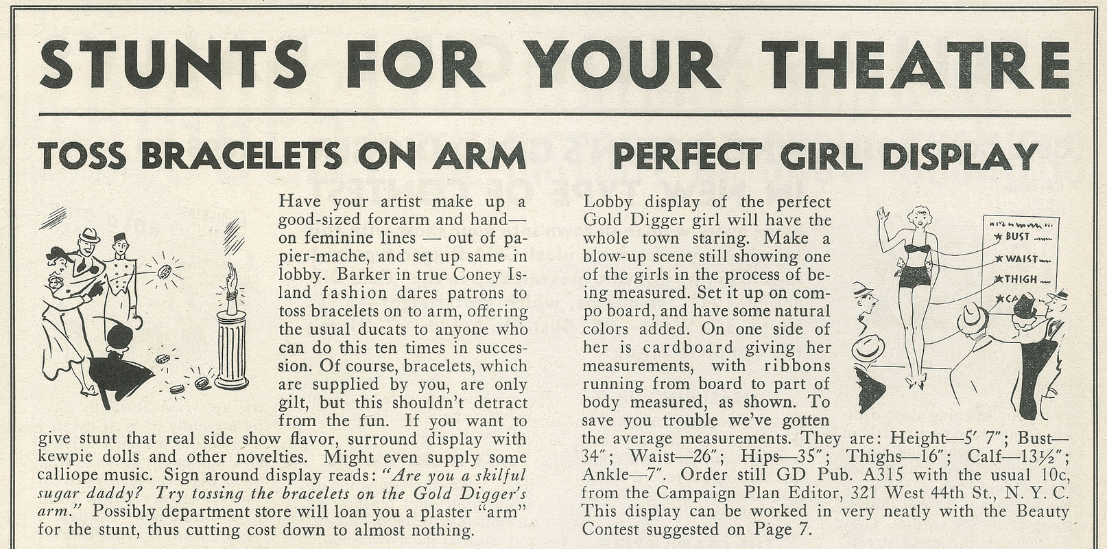 Excerpt from Page 7 of Gold Diggers of 1937 press book.