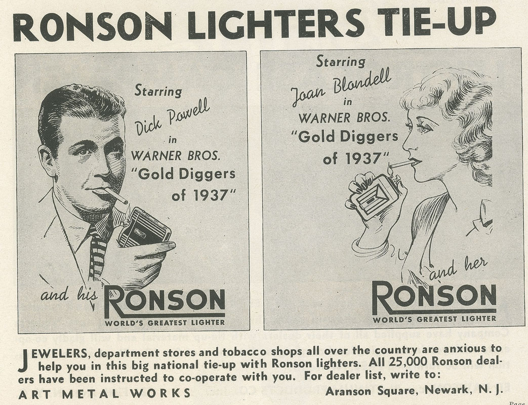 Excerpt from Page 23 of Gold Diggers of 1937 press book.
