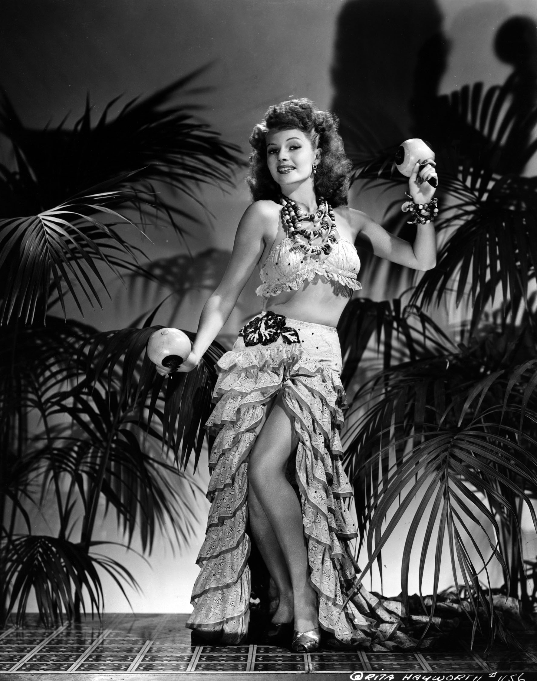 Columbia publicity still of Rita Hayworth dancing, circa 1941.