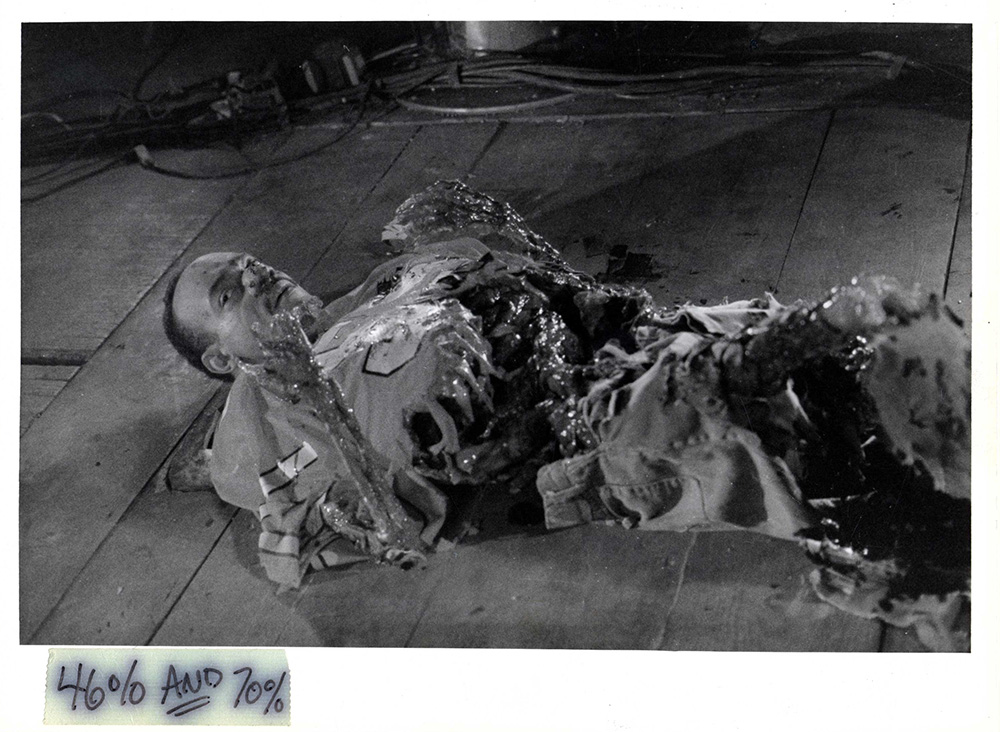 A typically gory special effect in From Beyond.