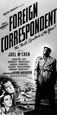 Poster design for Foreign Correspondent