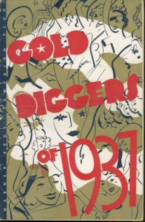 Cover of the Gold Diggers of 1937 press book.