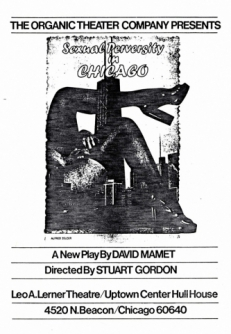 Playbill for Sexual Perversity in Chicago, directed by Stuart Gordon.