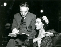 Dalton Trumbo on-set with Dolores Del Rio