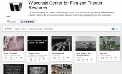 Screen capture of WCFTR film entries in the Internet Archive.