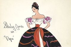 Dress sketch by Edith Head.